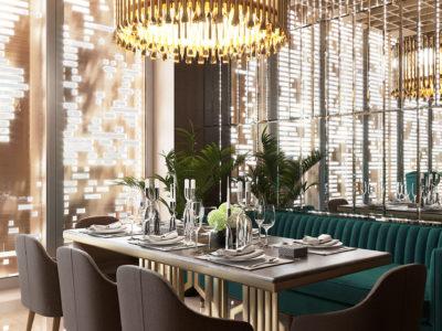 Дизайн интерьера ресторана в бутик-отеле